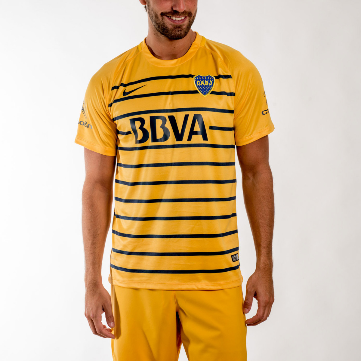 CAMISETA NIKE BOCA SS AWAY STADIUM 2016