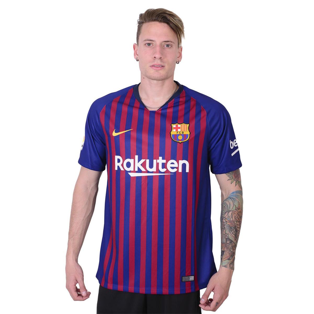 4dc3ecf7d0ed8 Camiseta Nike Fc Barcelona Stadium Home 2018 2019 - Indumentaria ...
