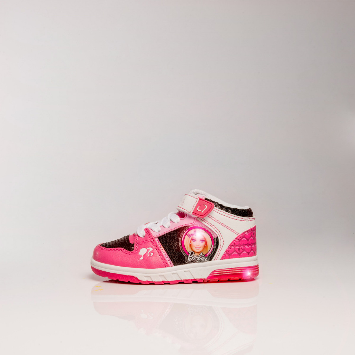 Zapatillas Footy Barbie Con Doble Velcro Y Luz