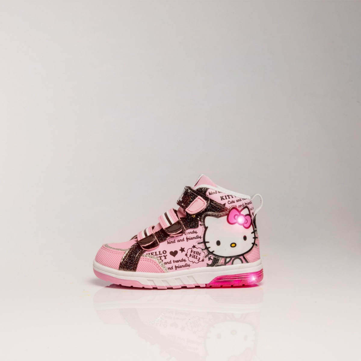 Zapatillas Footy Hello Kitty Botas Triple Velcro