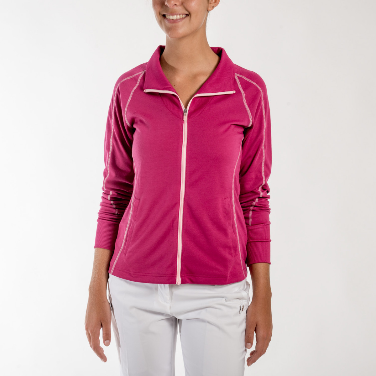 CAMPERA ADIDAS CONTRAST STITCHED FULL-ZIP