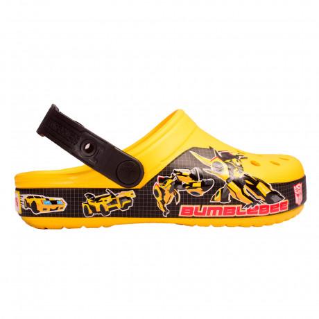 Zuecos Crocs Crocband Transformers Bumblebee Kids