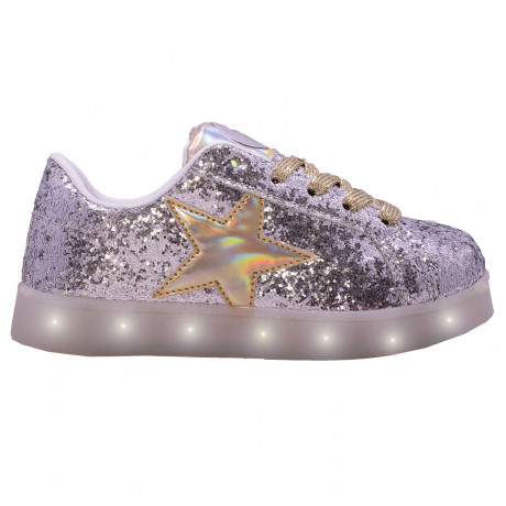 Zapatillas Footy Glitter Holograma